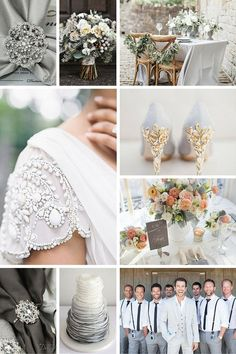 Gray Wedding Theme Color Inspiration