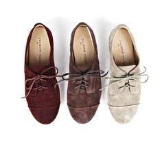 Were loving this suede oxford paired with this seasons ...
