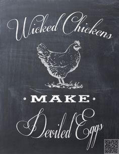 8. #Wicked Chickens - 9 #Whimsical Kitchen Chalkboard #Printables to Download for Free ...