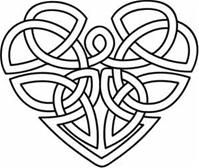 Celtic heart embroidery #celtic_knot #heart #embroidery_pattern