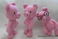 Little Bigfoot Pig Design by Amigurumi To Go