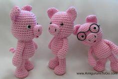 Little Bigfoot Pig Design by Amigurumi To Go