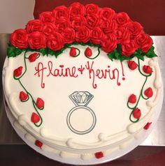 Congratulations to the happy couple! #carlosbakery