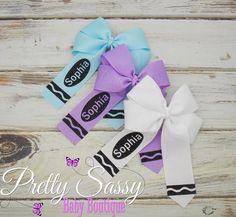 Making Hair Bows, Diy Hair Bows, Bow Hair Clips, Hair Ribbons, Ribbon Bows, Grosgrain Ribbon, Elastic Headbands, Baby Headbands, Glitter Girl