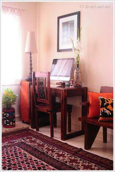 the east coast desi: An Aesthete's Paradise (Home Tour) Ethnic Home Decor, Indian Home Decor, Diy Home Decor, Apartment Therapy, Indian Inspired Decor, Indian Interior Design, Indian Interiors, Sweet Home, Indian Homes