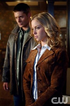 """""""In The Beginning"""" -Pictured (L-R) Jensen Ackles as Dean and Amy Gumenick as Mary Winchester in SUPERNATURAL on The CW. Photo: Sergei Bachlakov/The CW ©2008 The CW Network, LLC. All Rights Reserved."""