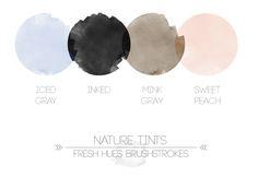 nature tints | fresh hues brushstrokes