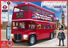 Uk bus Play Mobile, Playmobil City, Miniture Dollhouse, Lego City Sets, Toy Display, Rottweiler Dog, Interactive Toys, Toy Rooms, Shopping