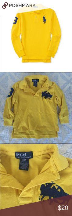 Ralph Lauren V-neck Big Pony Embroidery Darkblue Short Sleeved