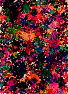 Neon Floral by Amy Sia http://society6.com/AmySia/Neon-Floral-2Mb_Print#1=45