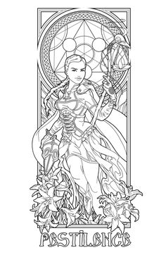 Pestilence lines by ~deviantAshtareth Make your world more colorful with free printable coloring pages from italks. Our free coloring pages for adults and kids. Fairy Coloring Pages, Adult Coloring Book Pages, Printable Adult Coloring Pages, Colouring Pics, Coloring Books, Colorful Drawings, Colorful Pictures, Line Art, Illustration