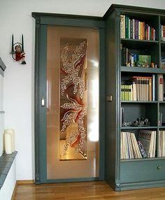 Wohnwand mit exklusivem Glasdesign - Handmade in Germany #home #living #glasdesign