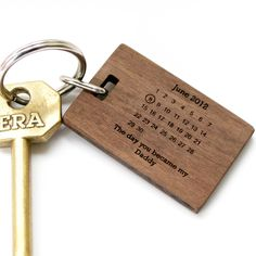 personalised 'the day you became my…' keyring by made lovingly made | notonthehighstreet.com