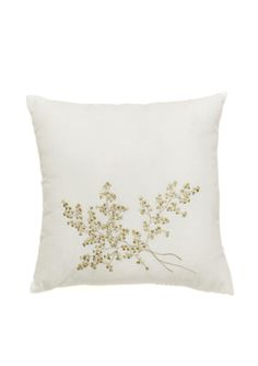 SANCTUARY BY L'ERBA Meadow Floral Square Embroidered Pillow