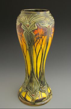 CalmWater Designs | Stephanie Young | A tall vase from the Sunset Series