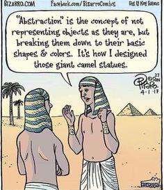 History Cartoon, Art History Memes, Funny Cartoons, Funny Jokes, Hilarious, It's Funny, Gary Larson Comics, Bizarro Comic, Starwars