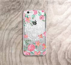 Quote iPhone 6s Case Floral iPhone 6s Plus Case by casesbycsera