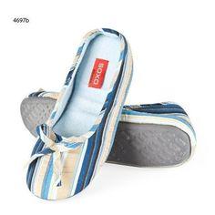 SOXO Damen Ballerinas klassisch gestreift mit TPR - http://on-line-kaufen.de/soxo/soxo-damen-ballerinas-klassisch-gestreift-mit