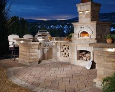 Outdoor Kitchen & Pizza Oven - mediterranean - patio - portland - Paradise Restored Landscaping & Exterior Design