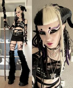 Possibly long stilts like this, instead of just hooves. :) http://psychara.deviantart.com/art/Faun-costume-366829342