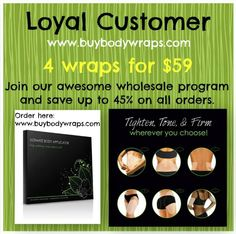 4 wraps for $59