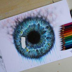 Dissolving eye  My facebook page - Deepdreamsart_ #art #artwork #artists #eyes #eye #drow #smoke #greeneyes #water #colors #pencils #strange #surreal #arts_help #nawden #artsanity #artgallery #proartists #arts_gallery #worldofpencils