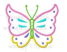 Diseño de bordado la máquina mariposa apliques