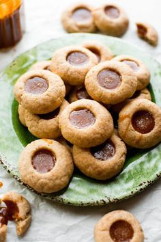 Caramel Apple Spice Thumbprint Cookies