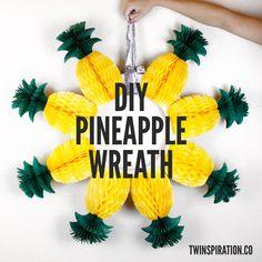 DIY Pineapple Wreath (Video)