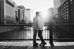 Chicago bridges, engagement session