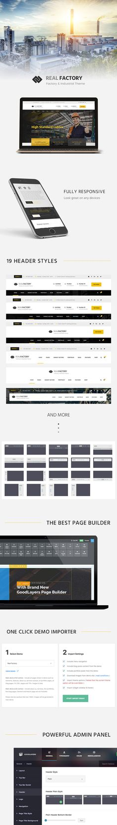 Real Factory is a perfect #WordPress theme for #Factory, #Industrial…