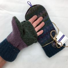 Your place to buy and sell all things handmade Sweater Mittens, Old Sweater, Wool Sweaters, Easy Sewing Patterns, Running Stitch, Electronic Devices, Fingerless Gloves, Arm Warmers, Fingers