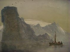 Peder Balke painting @ the Louvre Nature Paintings, Landscape Paintings, North Europe, Louvre, Traditional Paintings, Dahl, Painting Inspiration, Norway, Scandinavian
