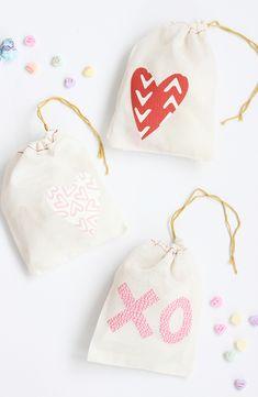 DIY: Iron-on Valentine Treat Bags