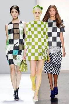 Get on board with the bold checker-print trend for spring #fashion