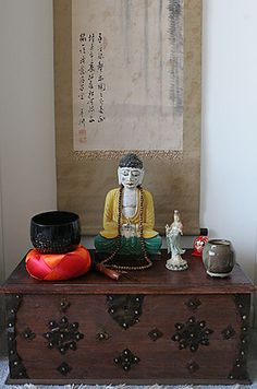 Japanese Butsudan Buddhist Home Altar Buddhist Altars Fittings 7goods Sets Buddhists Home