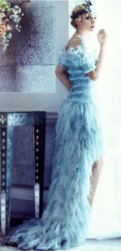 I am loving this dress or maybe its the way its pictured here. Nice blues