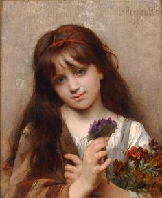 Léon Bazille Perrault, La marchande de fleurs, 1887