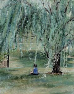 """""""Willow Tree"""" is an Original Pastel Drawing on paper ©2009"""