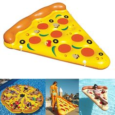 47.99$  Buy now - http://ali69y.worldwells.pw/go.php?t=32699549667 - 2016 New 185*150cm Giant Inflatable Pizza Pool Floats Summer Swimming Party Ring Adult Children Fun Water Toy Kickboard