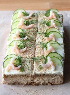 Lohileivokset Savory Pastry, Savoury Cake, Love Food, A Food, Food And Drink, Finnish Recipes, Sandwich Cake, Snack Recipes, Snacks