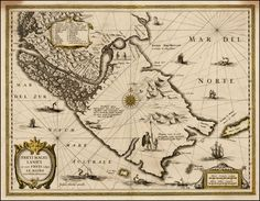 Cartouche, compass rose, illustrations of French dolphins, ships, penguins.  Barry Lawrence Ruderman Antique Maps Inc.