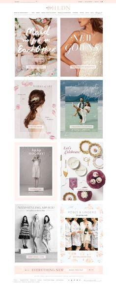 BHLDN | Anthropologie Weddings | Homepage Design