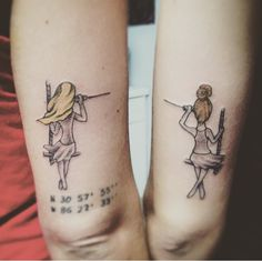 Bestfriend tattoo  Distance tattoo  Sister tattoo