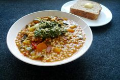 Jamie Oliver's Spring Minestrone with Pesto, adapted from Jamie Does: Spain, Italy, Sweden, Morocco, Greece, France,