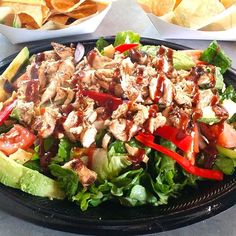 #salad #salsa #bajafresh #foodie #bajafreshmexicangrill #eatwelllivefresh Mexican Grill, Eating Well, Cobb Salad, Salsa, Fresh, Food, Essen, Salsa Music, Meals