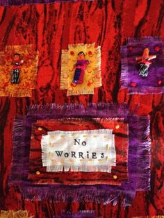 """By Bobbie Bryan for Dayna Collin's """"Scattered By the Wind"""" prayer flag project. http://alleyartstudio.com."""