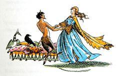 Pauline Baynes narnia - Queen Susan and Mr Tummnus