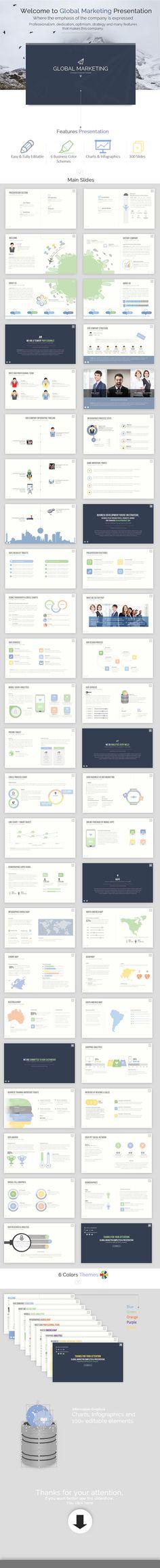 Business Global Marketing PowerPoint Presentation #design Download: http://graphicriver.net/item/business-global-marketing/11463263?ref=ksioks