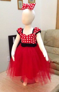 Red Dress Minnie Mouse Dress Toddler Red Minnie by TitasBoutique Red Minnie Mouse, Birthday Dresses, Girl Costumes, Toddler Dress, Tutu, Disneyland, Flower Girl Dresses, Party Ideas, Wedding Dresses